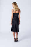 New York Dress - Black Sandwashed Silk