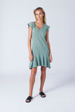 Barcelona Dress - Sea Grass Green