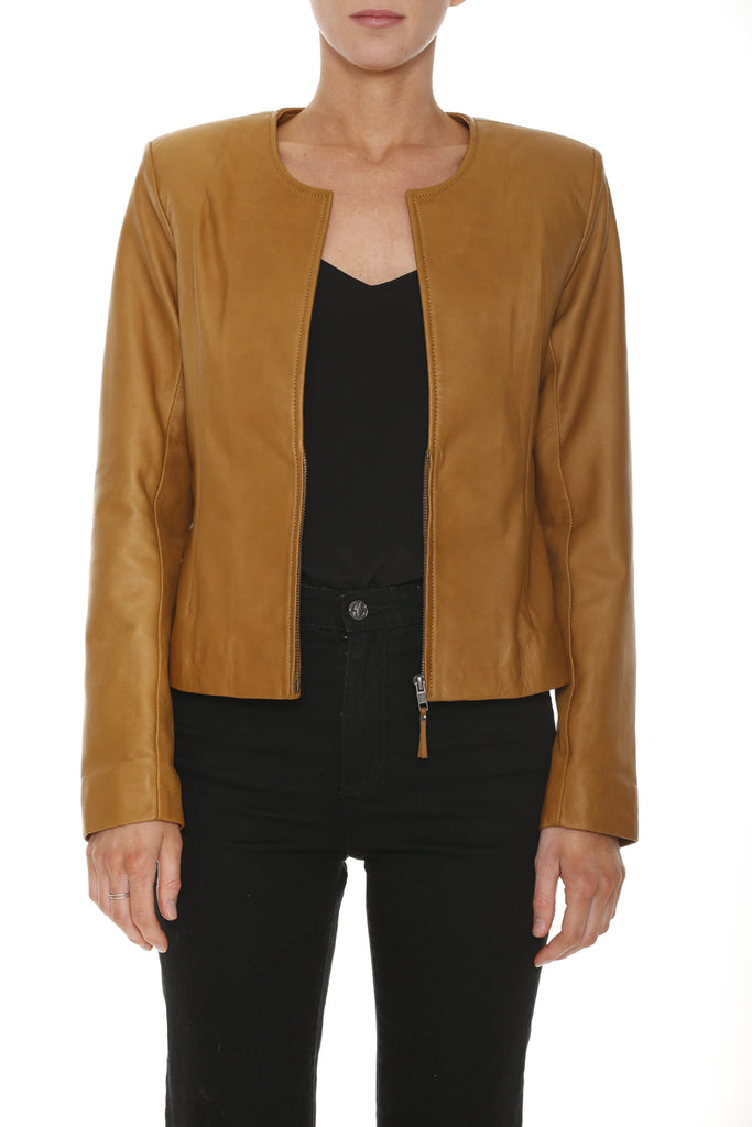 Monaco Leather Jacket (Burnt Butter)