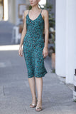 New York Dress - Green Cheetah