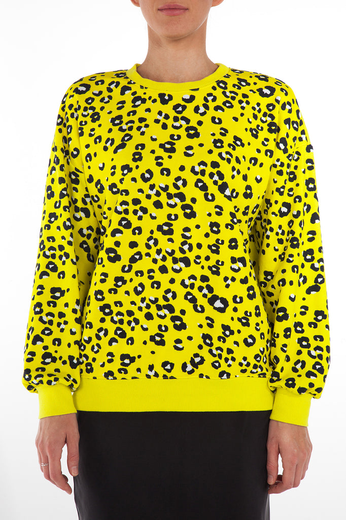 LA SWEATSHIRT - YELLOW CHEETAH