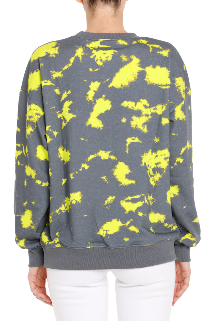 LA SWEATSHIRT - CHARCOAL/YELLOW