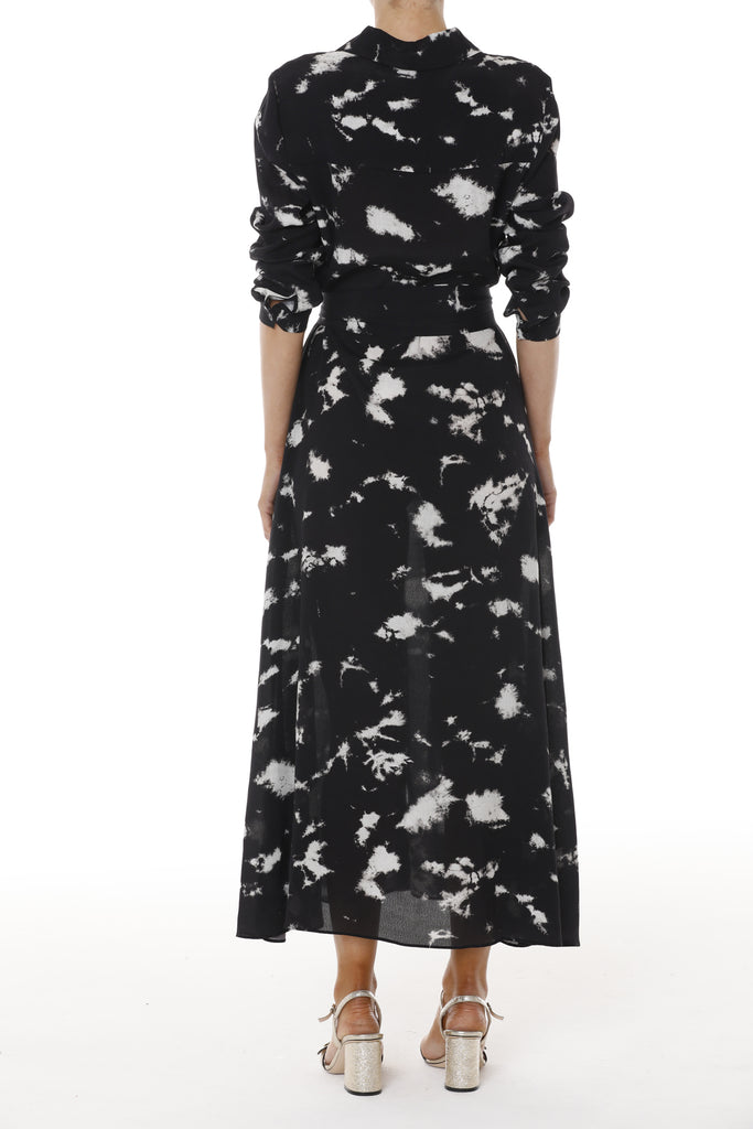 Milan Dress - Black Tie Dye