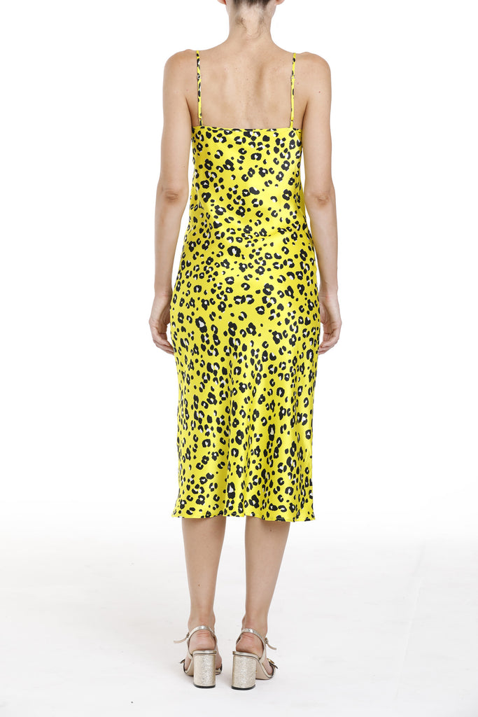 New York Dress - Yellow Cheetah