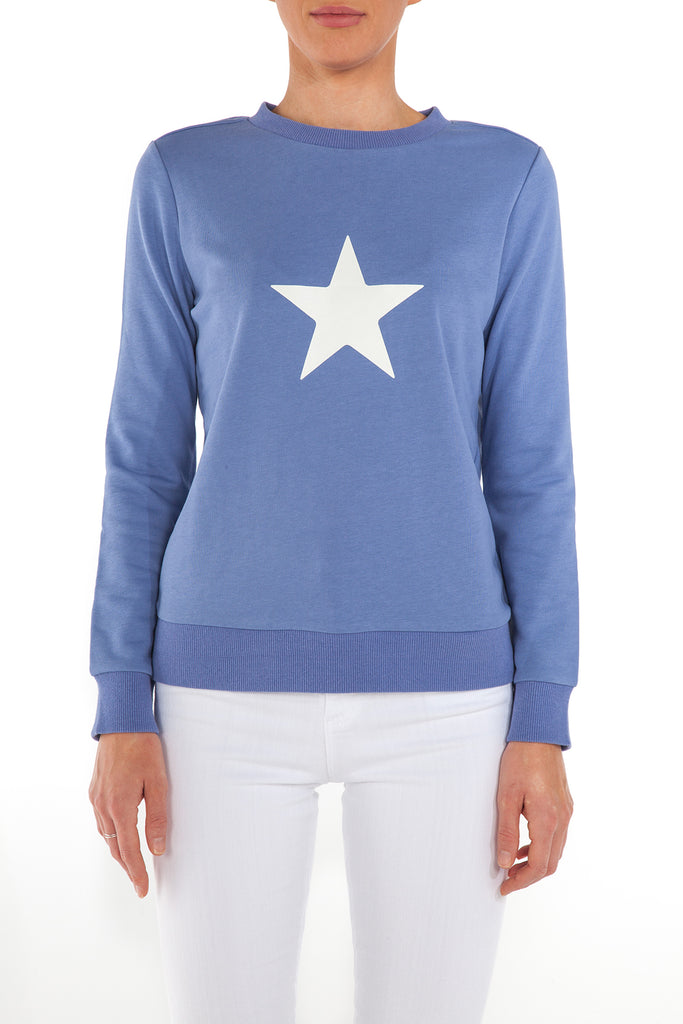 Sancia Star Sweatshirt - Periwinkle