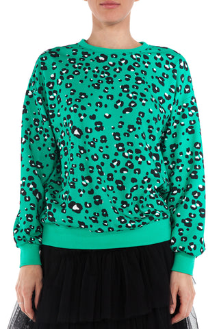 LA SWEATSHIRT - GREEN CHEETAH