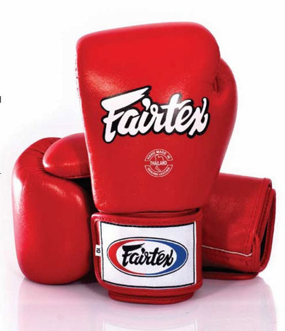 Fairtex Tight Fit Universal Gloves Red 16oz
