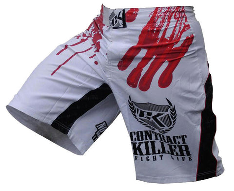 Contract Killer Stained Fight Shorts -