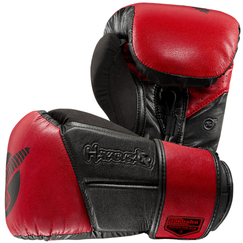 Hayabusa Tokushu Regenesis Glove 16oz Black & Red