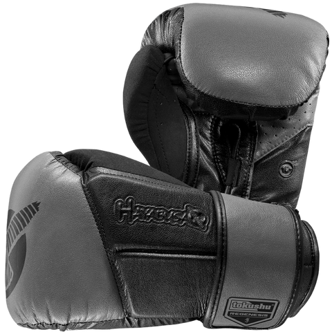 Hayabusa Tokushu Regenesis Plus Glove 16oz Black & Grey with Oversized Hand Cavity