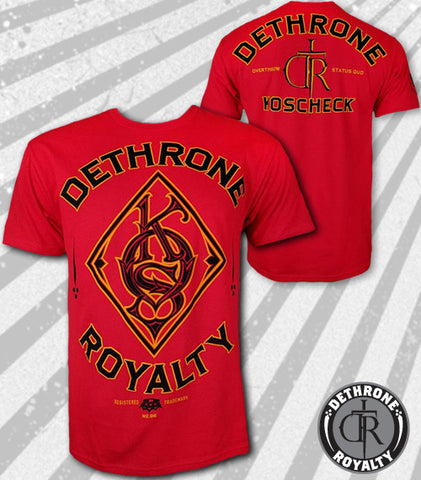 Dethrone Royalty Josh Koscheck Red Signature T-Shirt -