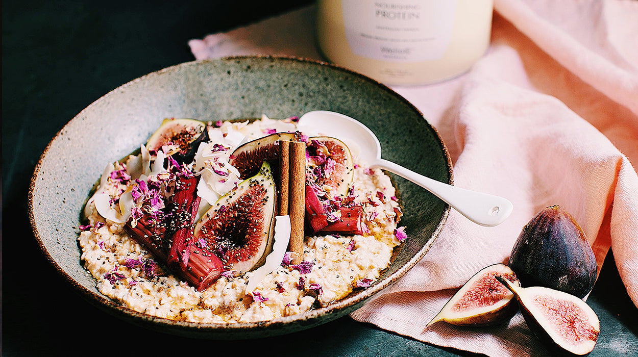 Winter Wake-Up Call: Roasted Fig, Rhubarb and Vanilla Bircher Muesli