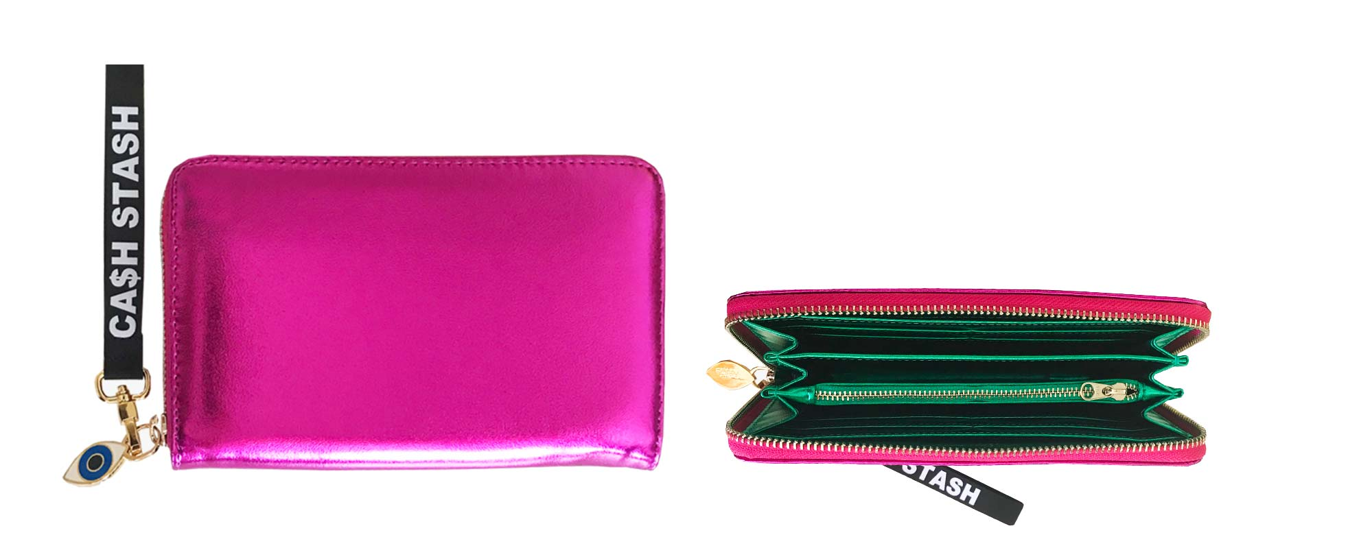 Exclusive WelleCo x Poppy Lissiman metallic Super Cash Stash Wallet