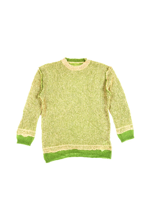 Double Face Knit Pullover - Green