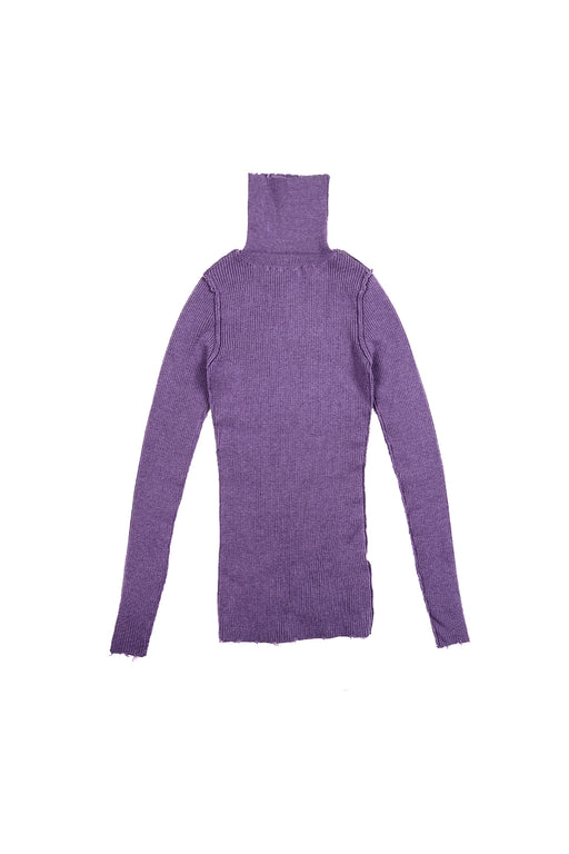 Fit Rib Turtle Knit - Purple