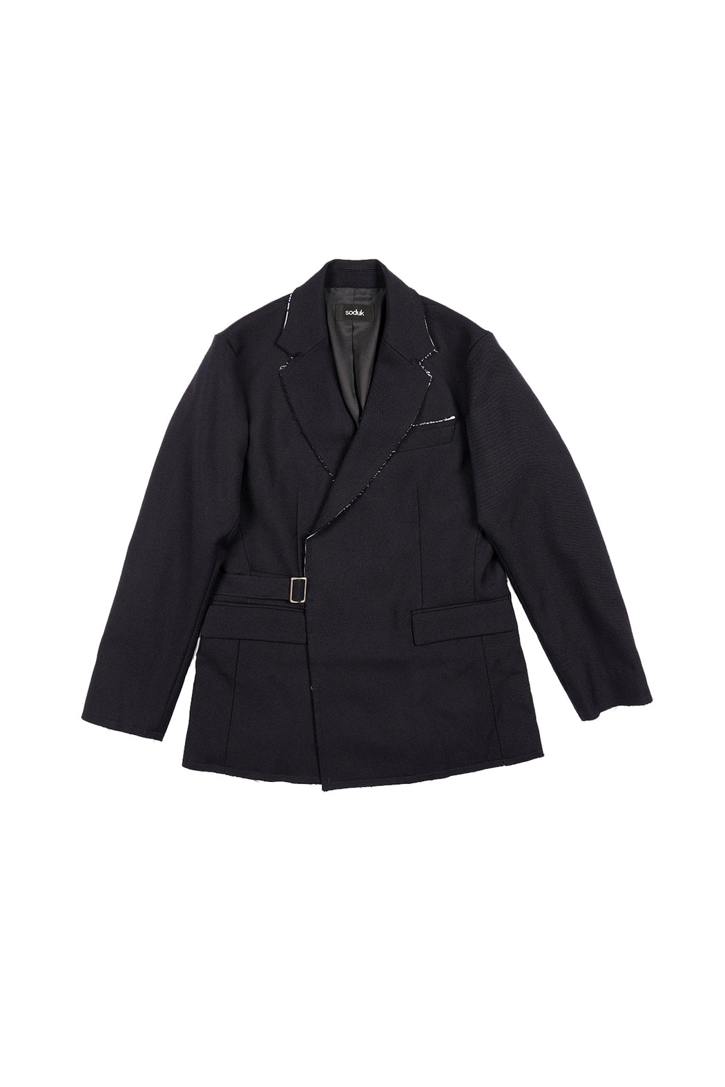 Fringe Finition Jacket - Navy