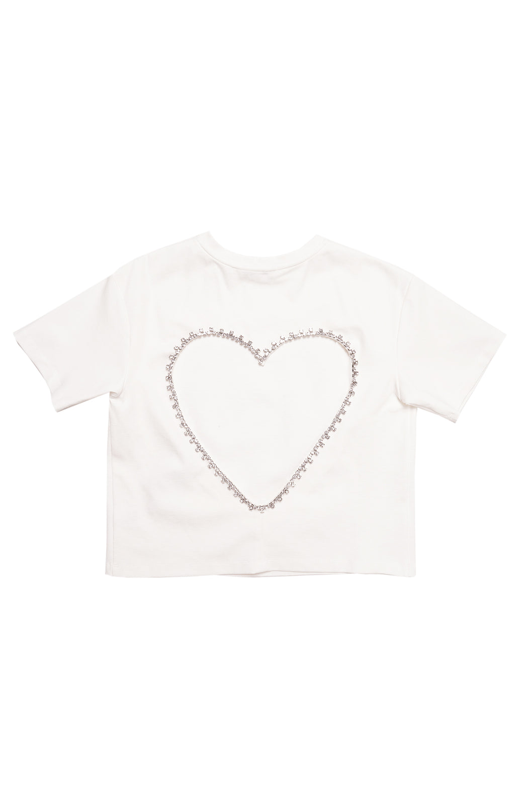 Open Heart Relaxed Tee - White