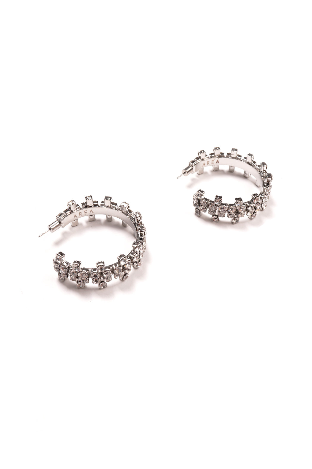 Round Crystal Clover Hoop Earrings