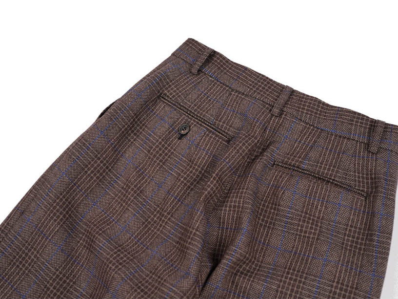 Check Trousers - Brown Plaid