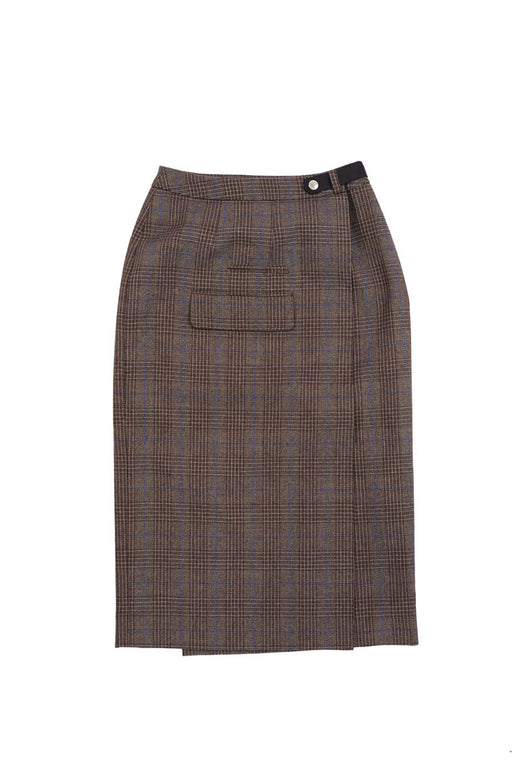 Check Skirt - Brown Plaid