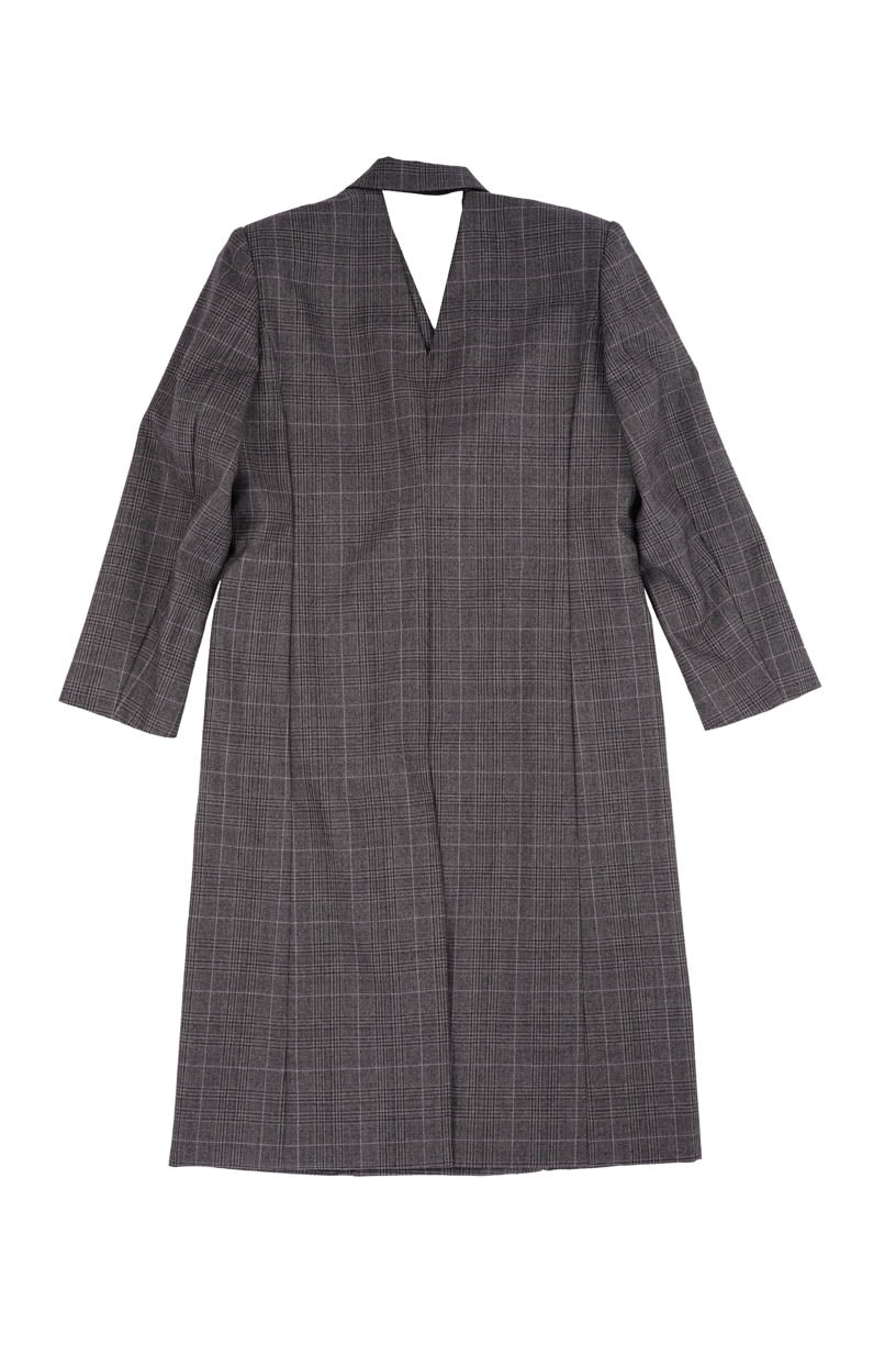 Coat Dress - Grey Plaid
