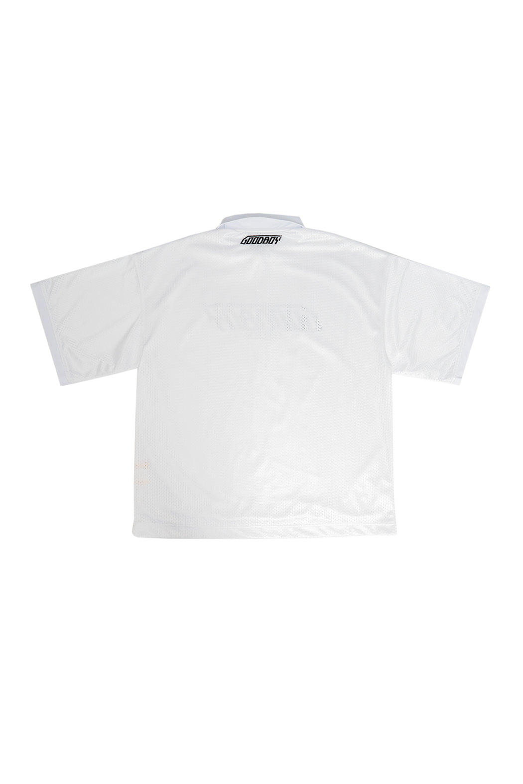 Oversized Mesh PK Shirts - White