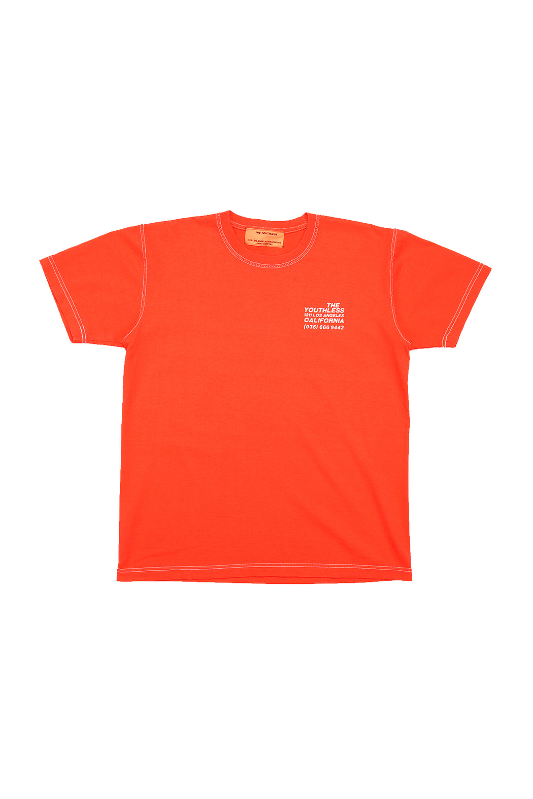 Peace Sign S/S Tee - Pink Orange