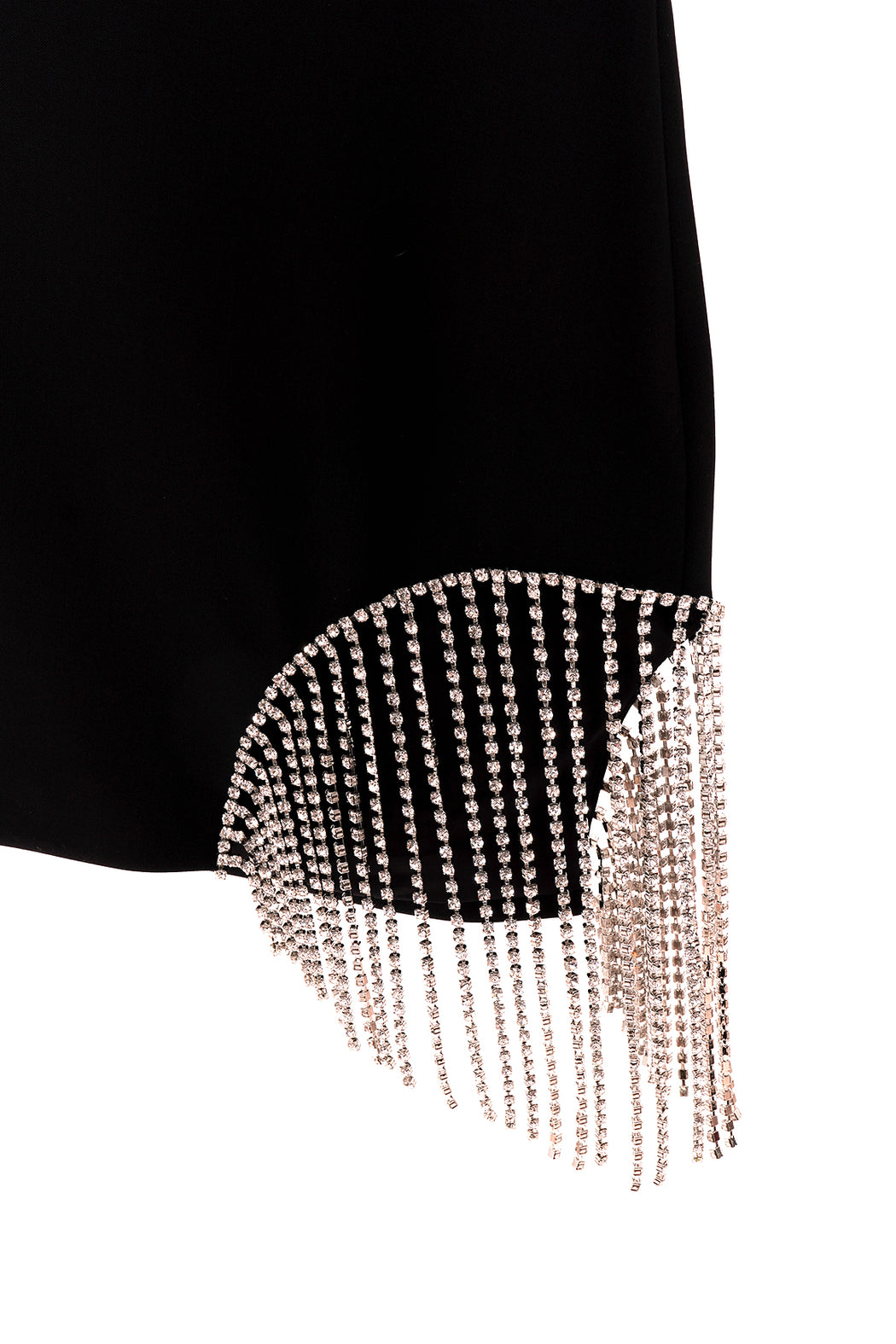 Crystal Fringe Skirt - Black