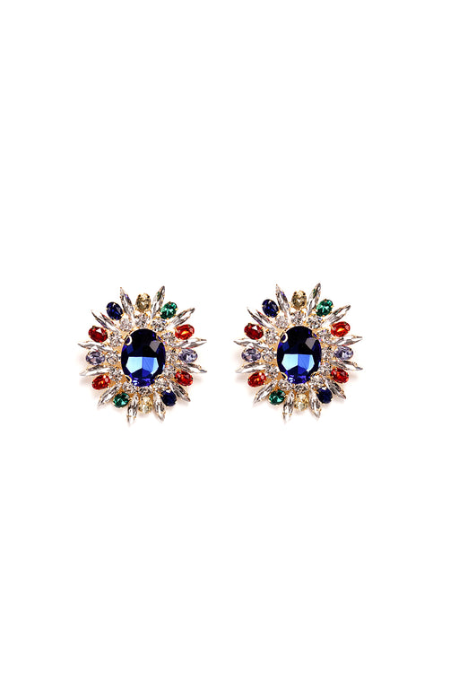 Large Stud Motif Frame Earrings