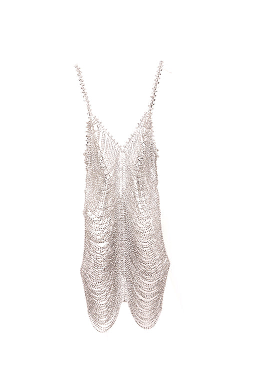 Crystal Cupchain Slip Dress