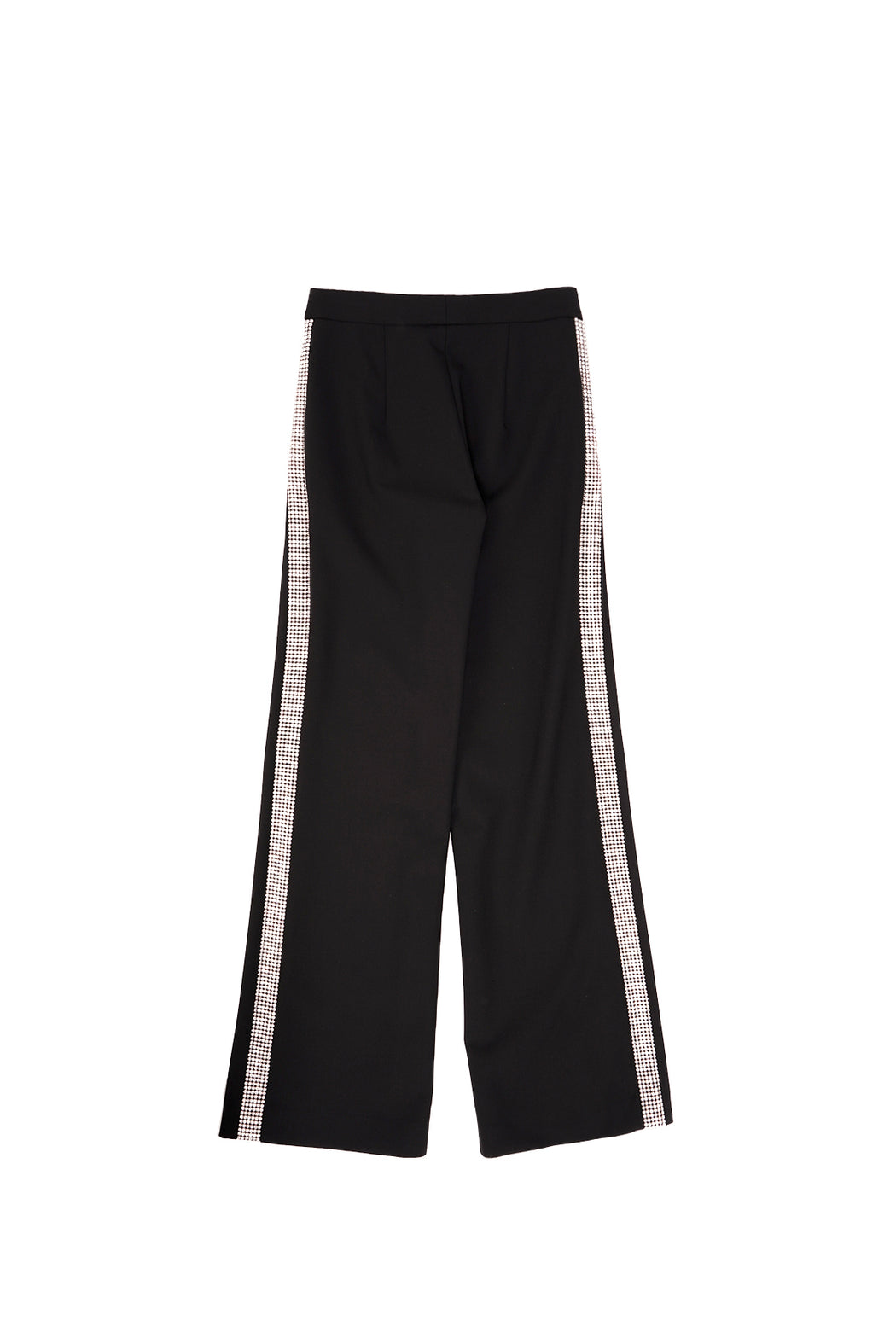 Crystal Stripe Wide Leg Trouser - Black