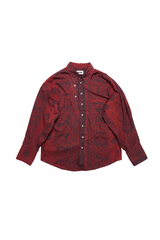 Twisted Shirt Batik - Burgundy