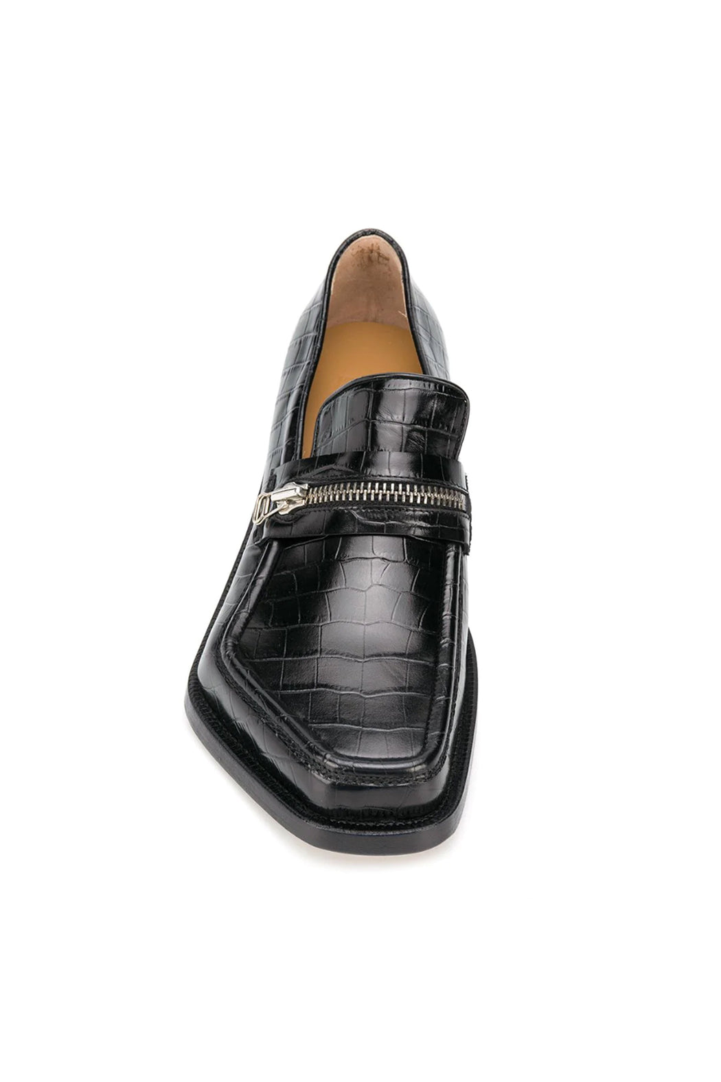 Monster Loafer Zipped - Black/Snakeskin