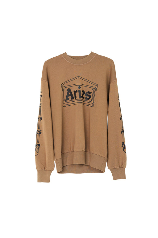 Column Crew Sweat - Khaki/Black