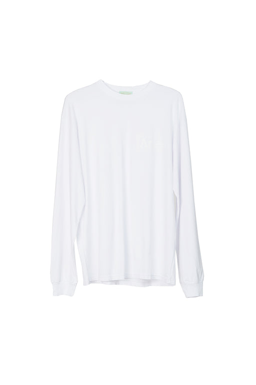 Basic Temple LS Tee - White