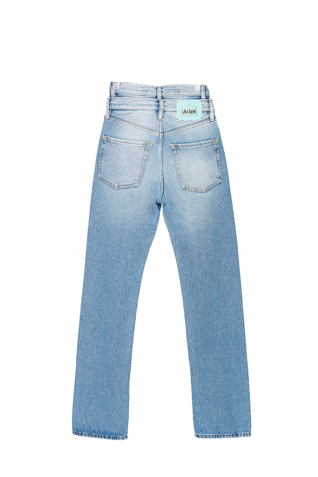 Lilly Double Waistband Jeans - Blue