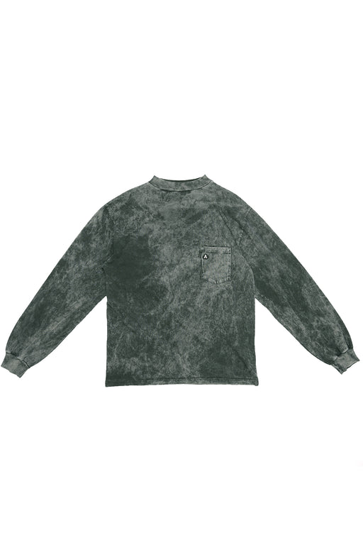 Acid Wash Pocket Tee - Black