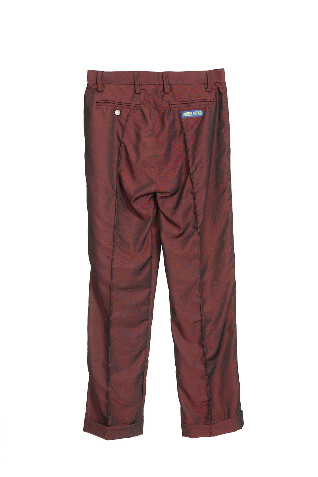 Pleated Trousers - Red/Iridescent