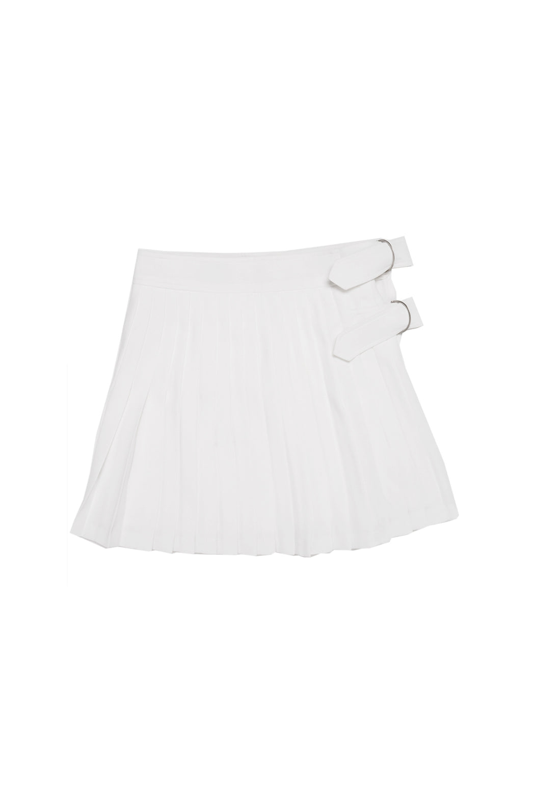 Pleated Wrap Skirt - White