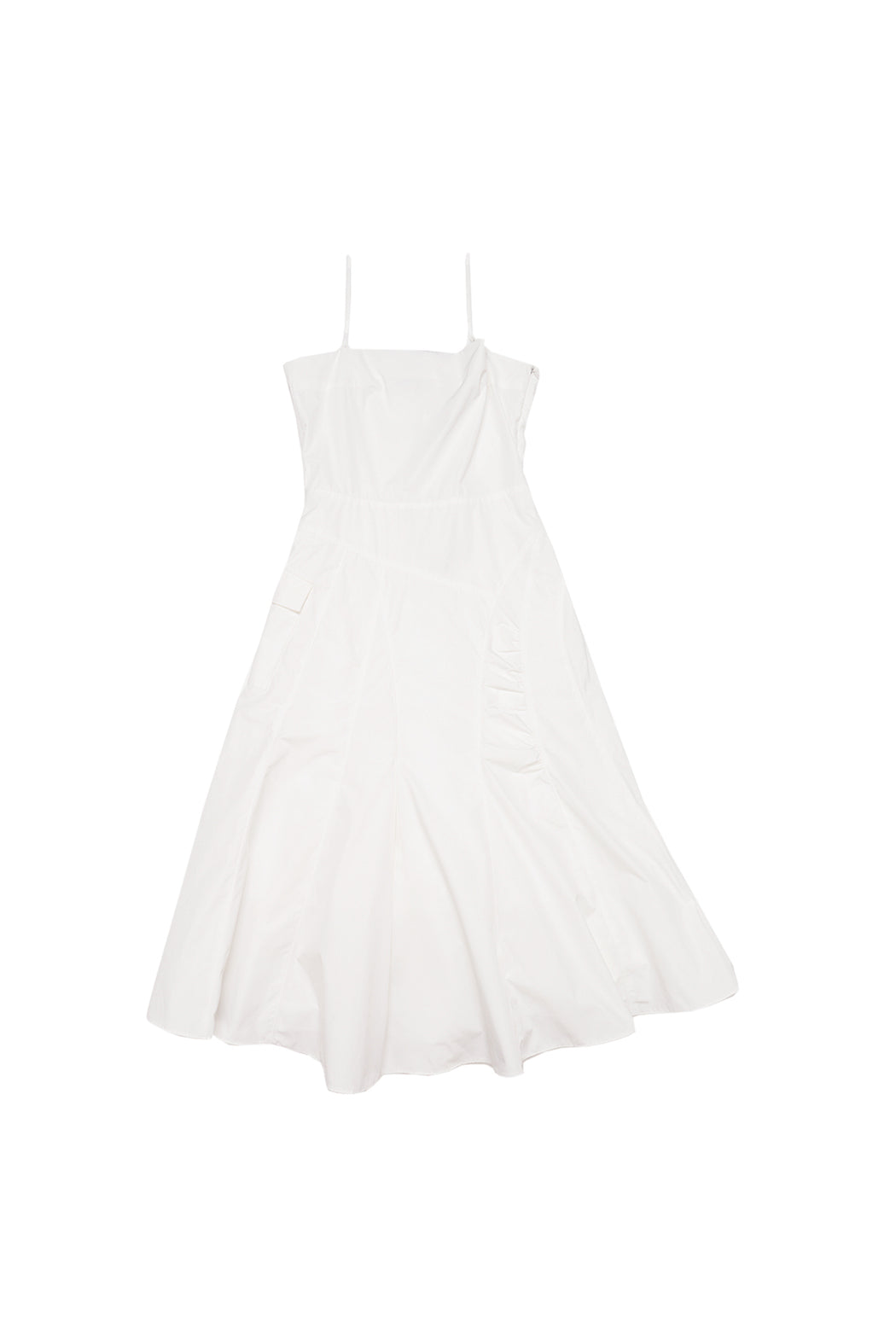Cargo Flared Dress - White