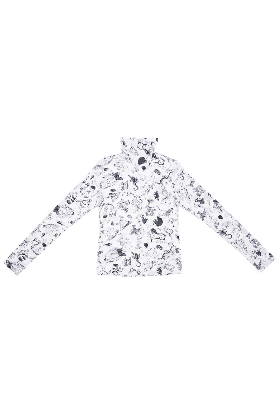 Zodiac Print Long Sleeve Top