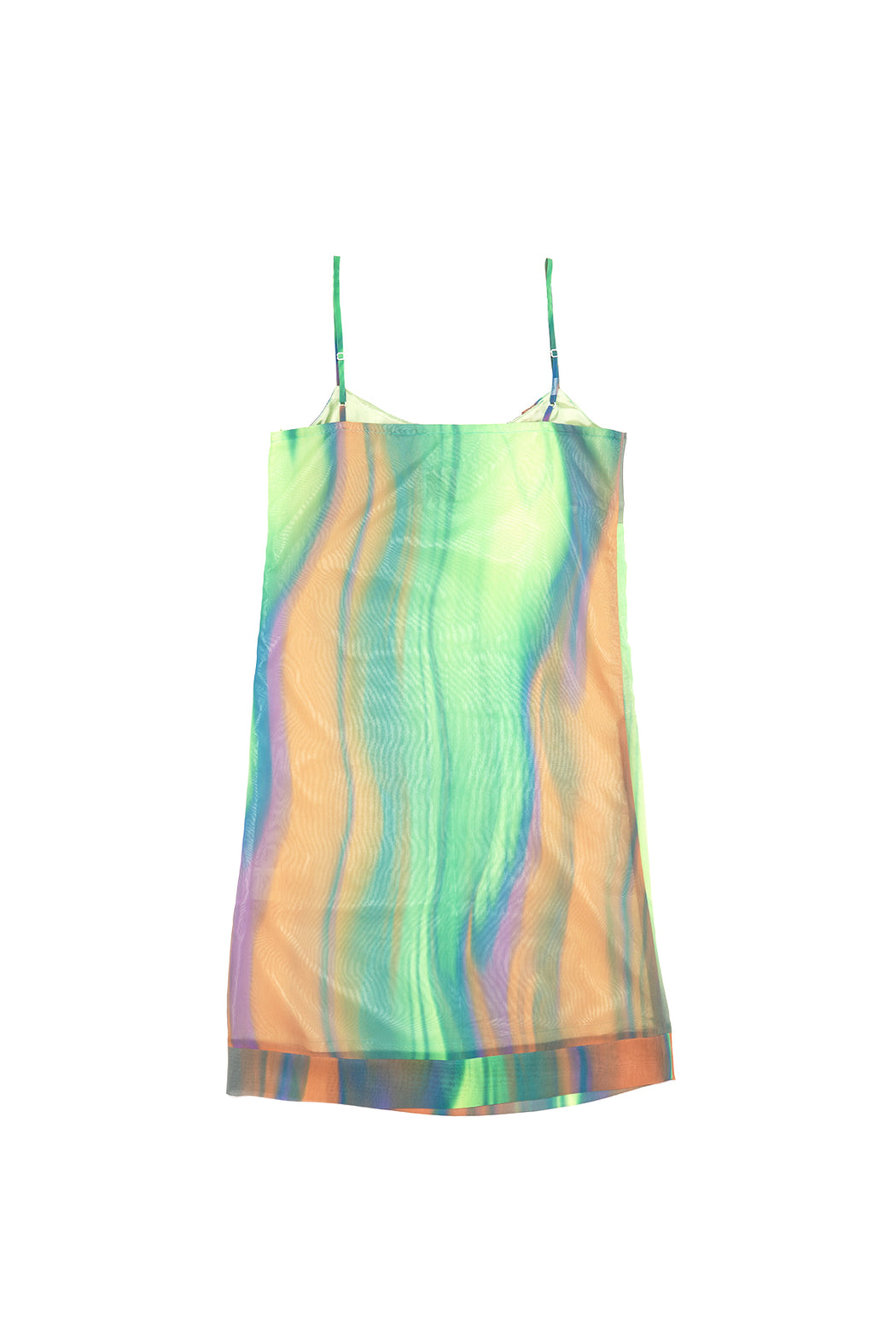 Watercolor Printed Dress - Green