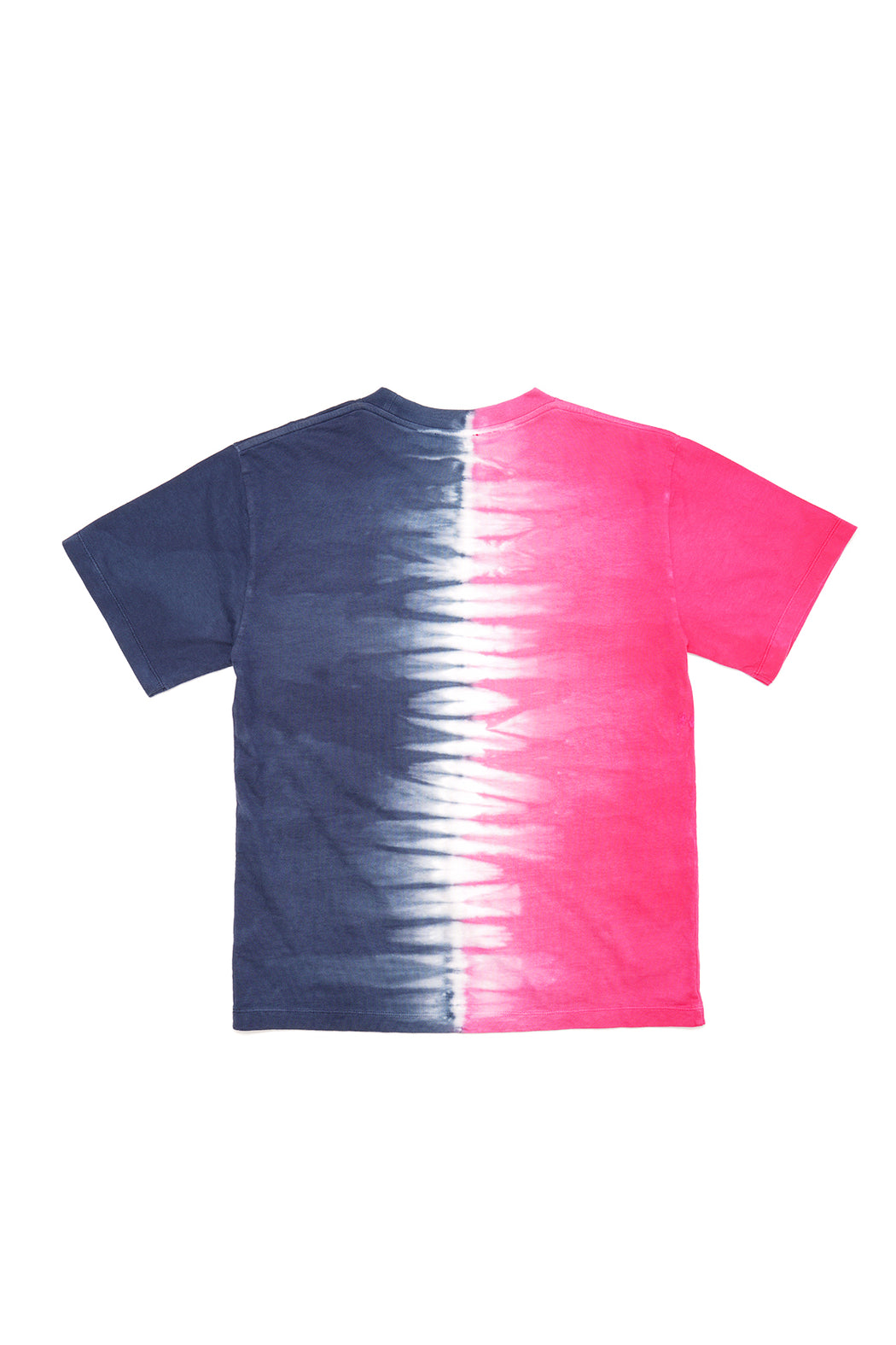 Tie Dye Half and Half Tee - Blue/Fuschia