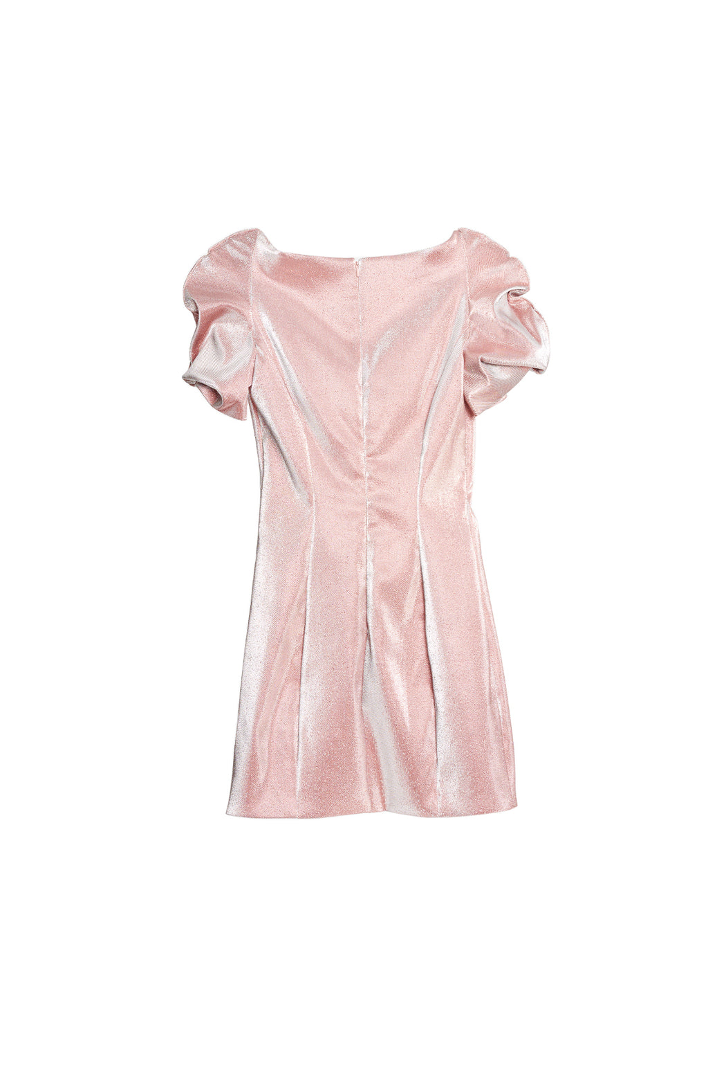 Balloon Sleeve Dress - Pink