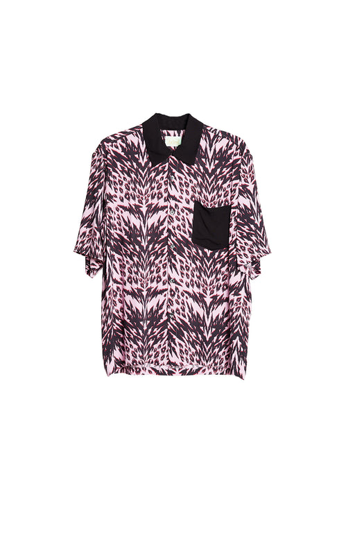Animal Print Bowling Shirt - Pink