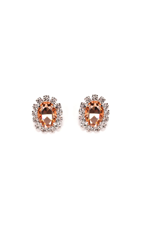 Costume Gemstone Earrings - Peach