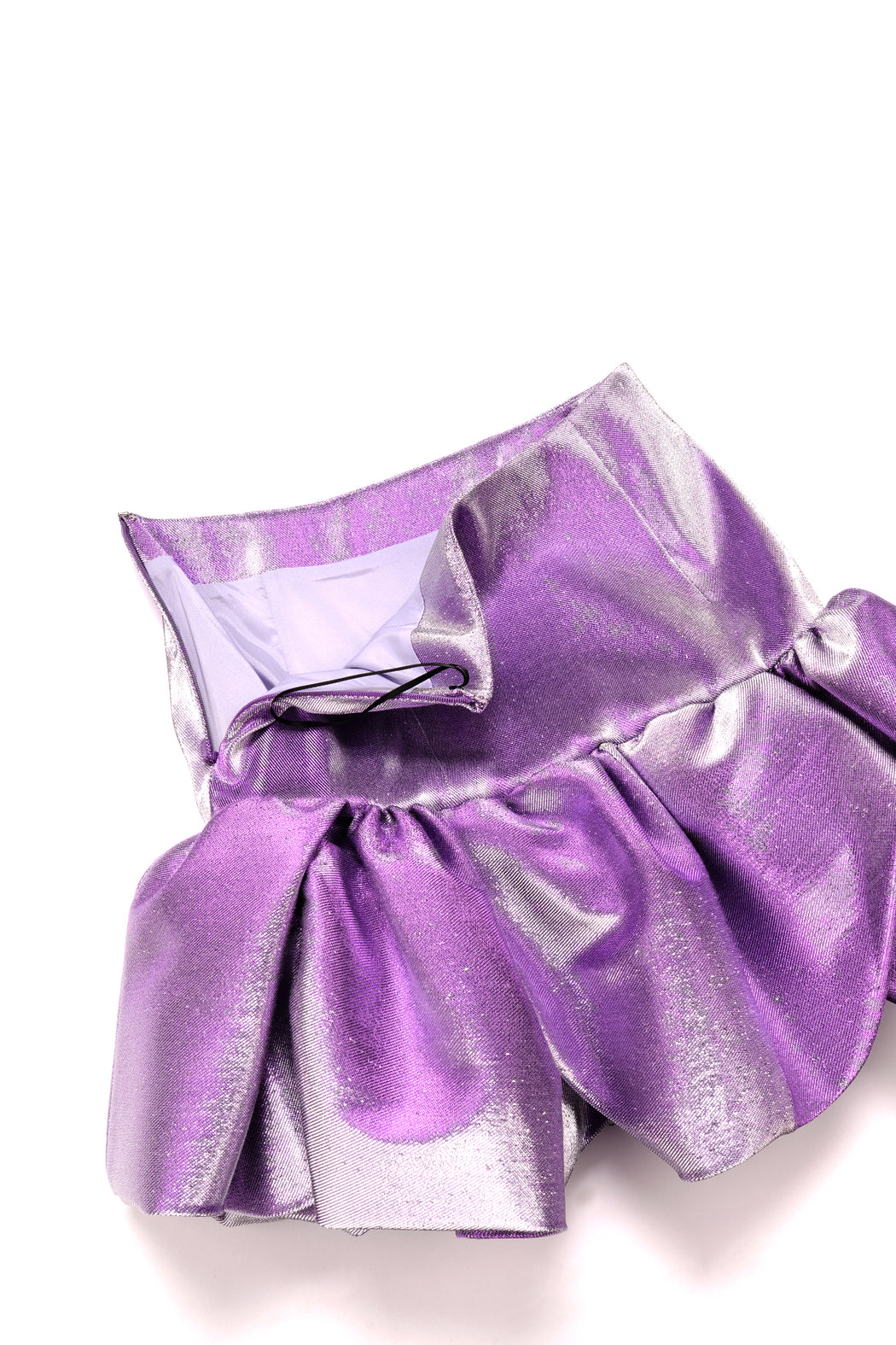 Bubble Hem Yoke Skirt - Lilac