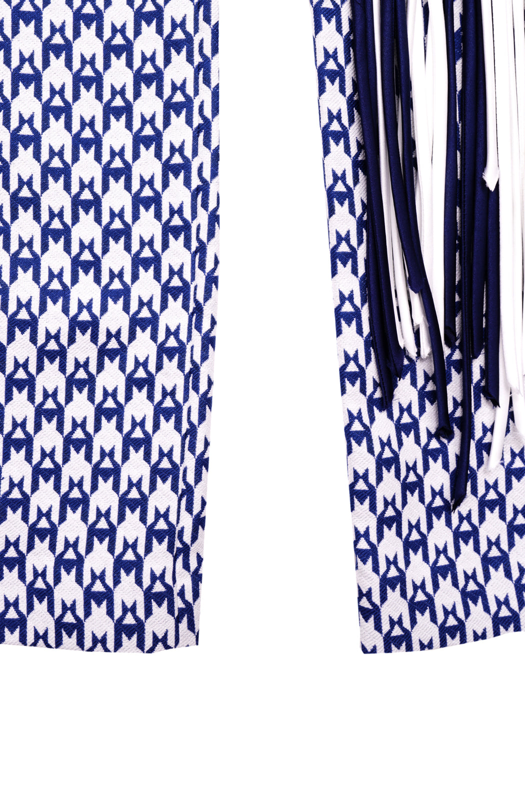 Fringe Straight Trouser - Royal White/Blue