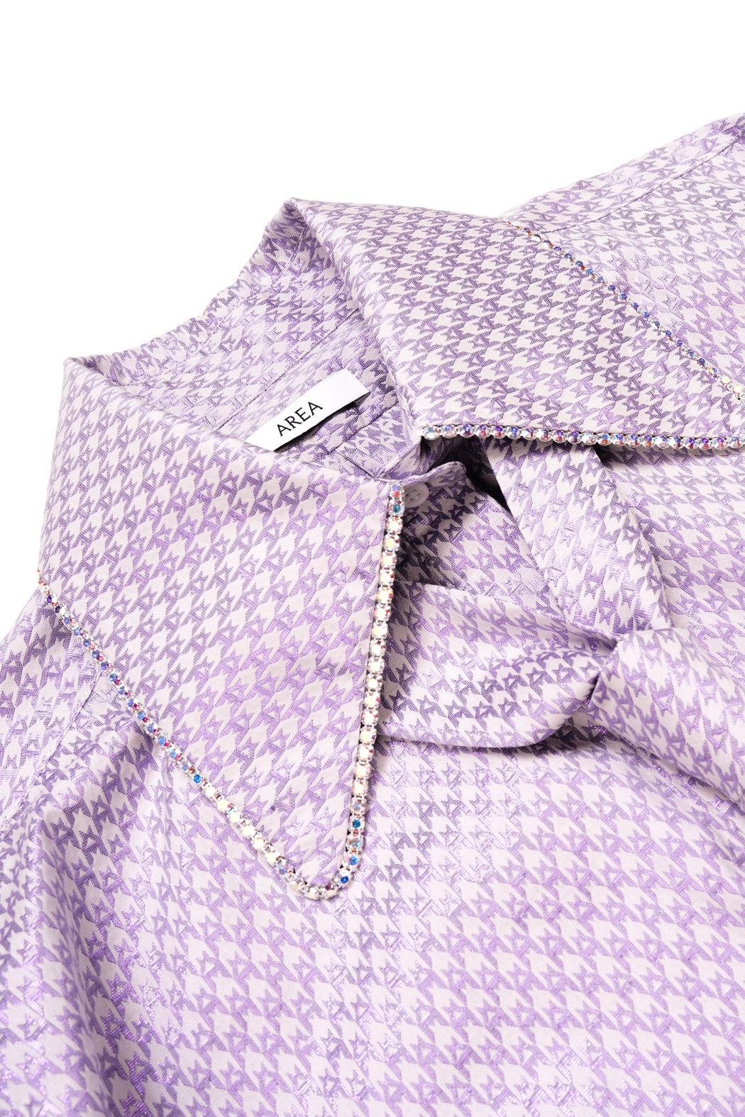 Crystal Tie Oversized Shirt - Lilac
