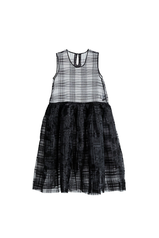 Checkered Organza Dress